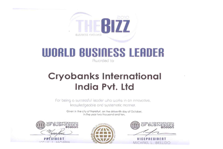 The Bizz world Bussiness Leader, Cryoviva